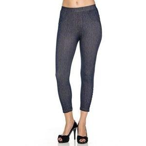 Womens Stretchy Denim Leggings